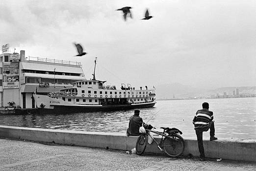 Ferryboat in Karsiyaka Port in Izmir by Ilker Goksen
