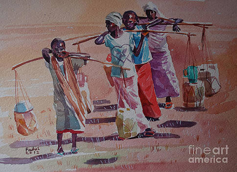 Fetching water by Mohamed Fadul