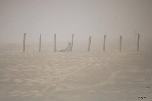 Allen Sheffield - Figure in the Fog - a Moment Earlier
