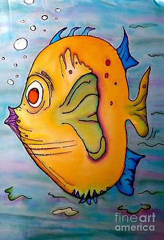 Finnegan the fish by Vickie Scarlett-Fisher