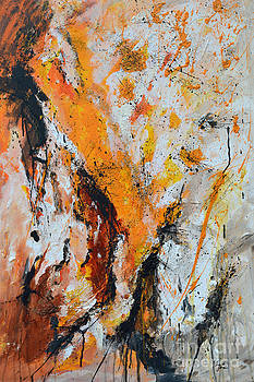 Fire and Passion - Abstract by Ismeta Gruenwald