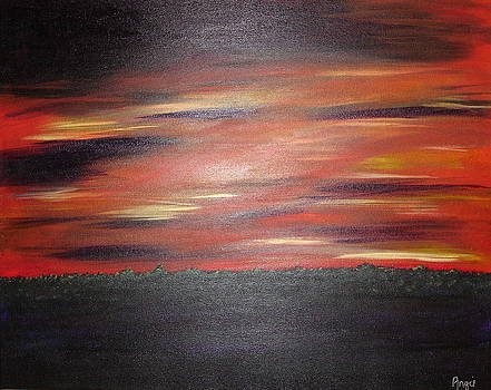 Fire in the Sky Sunrise by Angie Butler