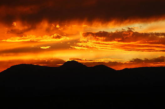 Fire Sunset by Kasie Morgan