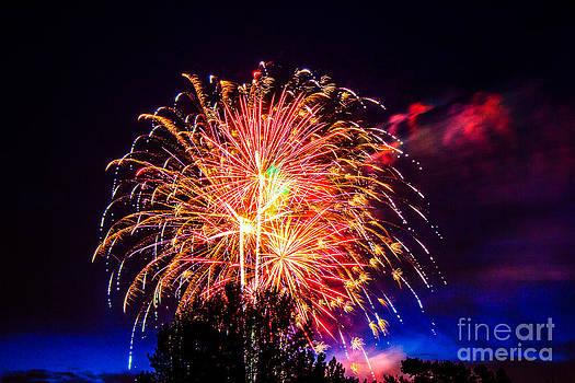 Fireworks Eugene Oregon by Michael Cross