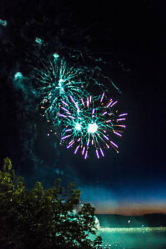 Fireworks on the Ocean by Danielle Silveira