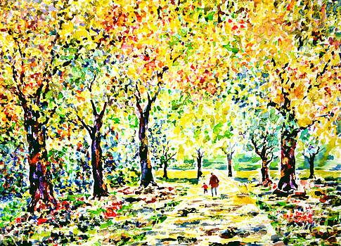 First autumnal walk on his own feet by Alfred Motzer