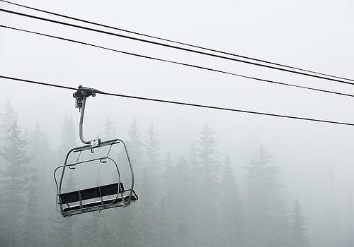 First Chair in the Storm by Adam Pender