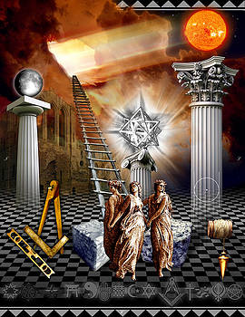 First Degree Masonic Tracing Board by Gregory Stewart