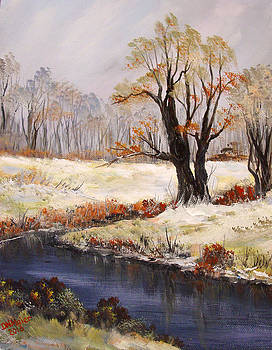 First dust of snow by Dorothy Maier