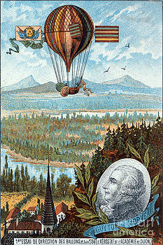 Science Source - First Flight With Dirigible Balloon
