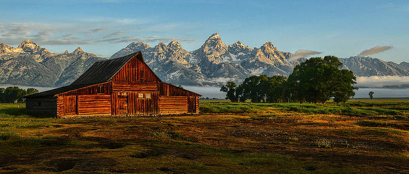 First Light at the Barn by Jeff R Clow