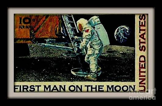 Gail Matthews - First Man on Moon Postage Stamp United States