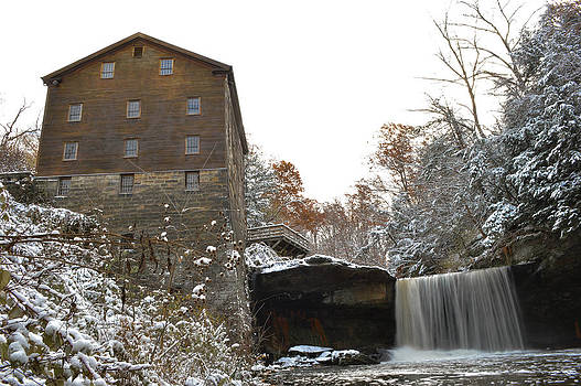 First Snow Lanterman's Mill by Jim Wilcox