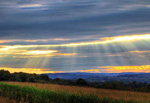 First Sunset Of Fall by David M Jones