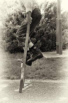 Mary Lee Dereske - First Time on Stilts at White Pine Village in Ludington Michigan