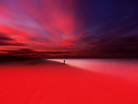 Fisher In Red by Florin Birjoveanu
