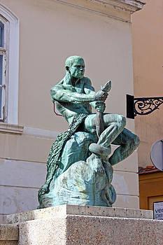 Fisherman with Snake by Borislav Marinic