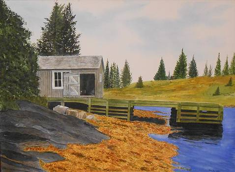 Fisherman's Boat House by Mary Ann Leake