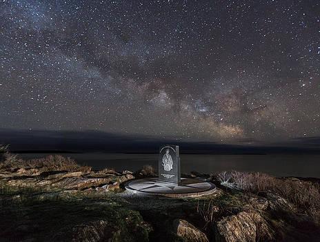 Fishermans Memorial and Milky Way by Hali Sowle