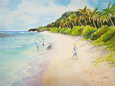 Fishing at Ritidian by Kathleen Rutten