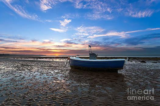 English Landscapes - Fishing Boat Sunset
