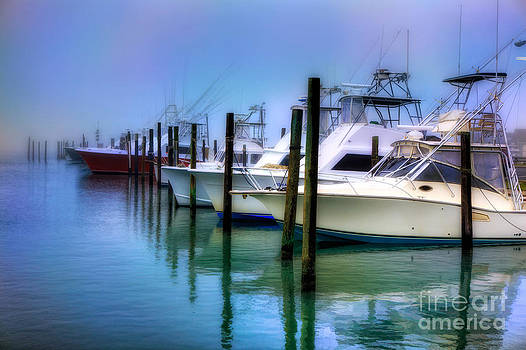 Dan Carmichael - Fishing Boats in Fog - Outer Banks