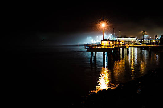 Fishing Pier at Night by Brian Xavier