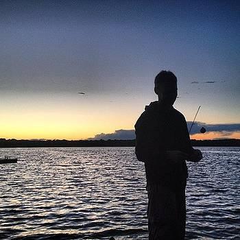 #fishing #sunset #atthelake by Megan Rudman