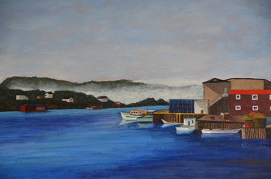 Fishing Village by Marsha Thornton