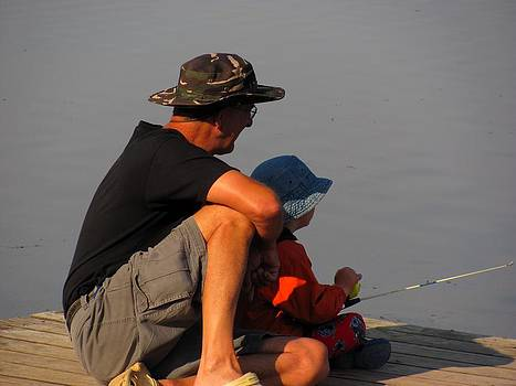 Fishing with Papa by Carolyn Mortensen