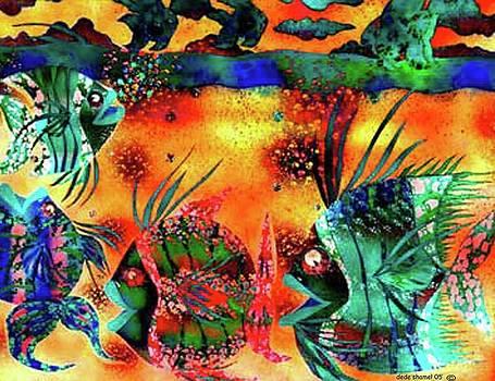 Fishy Green Mile Two by Dede Shamel Davalos