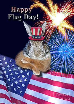 Jeanette K - Flag Day Bunny Rabbit
