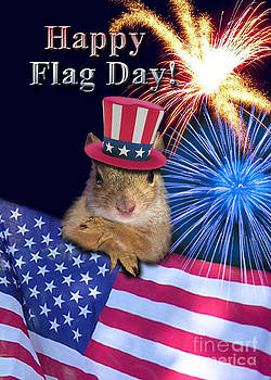 Jeanette K - Flag Day Squirrel