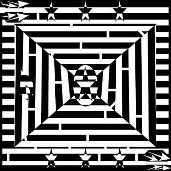 Flag of Grenada Maze by Yonatan Frimer Maze Artist