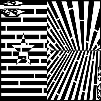 Flag Of Guinea-Bissau Maze  by Yonatan Frimer Maze Artist
