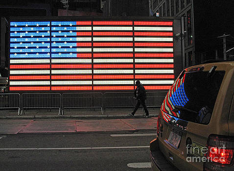 Flag Reflected by Louise Peardon