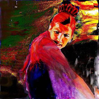 Flamenco dancer 1 by Sylva Zalmanson