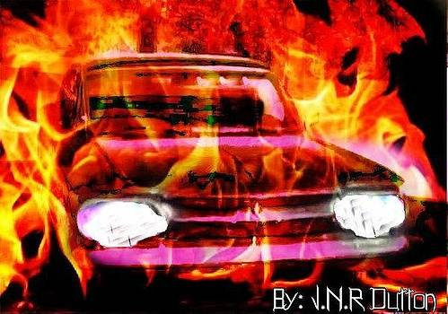 Flaming Car by Jo Nathon Dutton