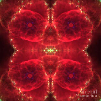 Flaming Stars Abstract Space Art by Animated Sentiments