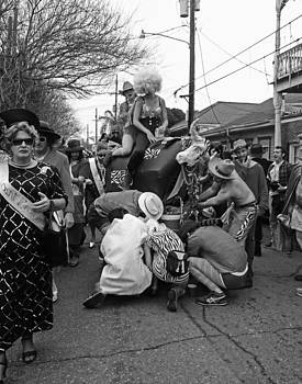 Flat Tire on the Parade Route in New Orleans by Louis Maistros