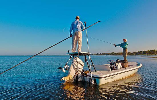 Flats Fishing Sarasota Bay Redfish by Jay Campbell