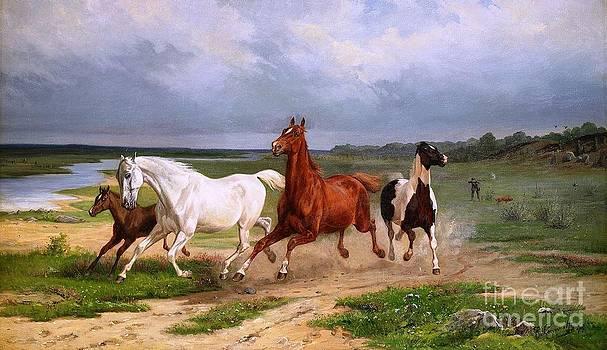 Roberto Prusso - Fleeing Horses
