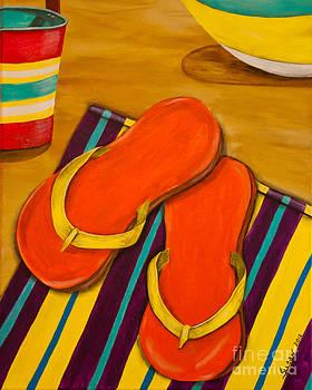 Flip Flops on the beach by Susan Cliett