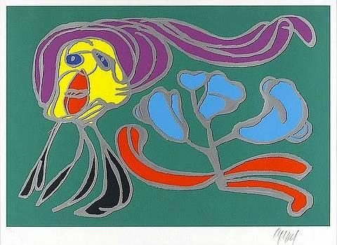 Floating Flower Passion by Karel Appel