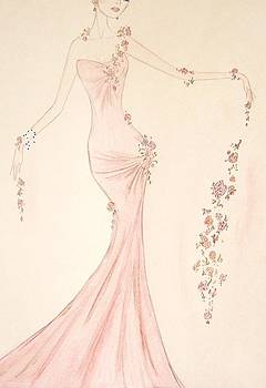 Floral Cascade  by Christine Corretti