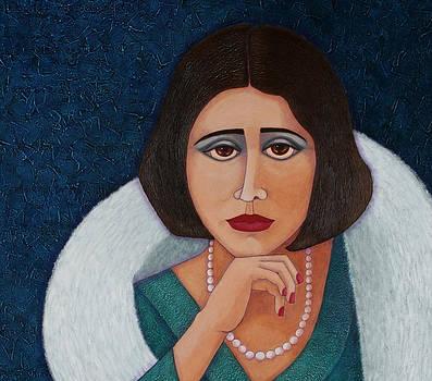 Florbela Espanca closer  by Madalena Lobao-Tello