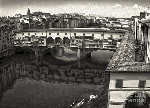 Gregory Dyer - Florence Italy - Ponte Vecchio in sepia