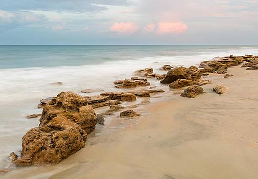 Florida Coquina Beach Evening by Bill Swindaman