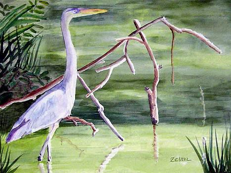 Florida Crane by Zelma Hensel