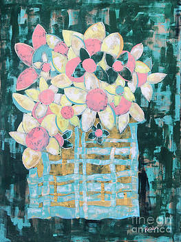 Flower basket by Paula Drysdale Frazell